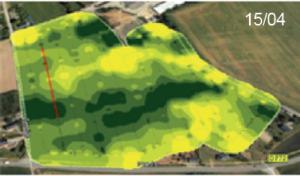 Cartographie d'une parcelle de blé (N-SENSOR)