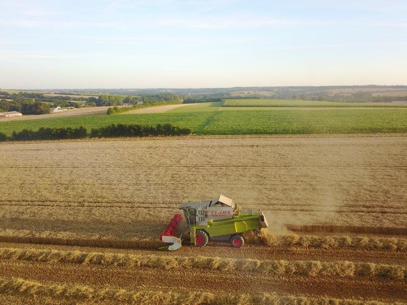 ETA Gautier - Récoltes 2017 - Claas Lexion 570 (2)