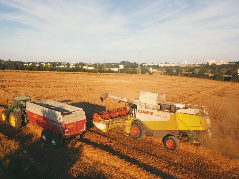 ETA Gautier - Récoltes 2017 - Claas Lexion 570